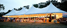 Tent rentals for outdoor weddings in Naples