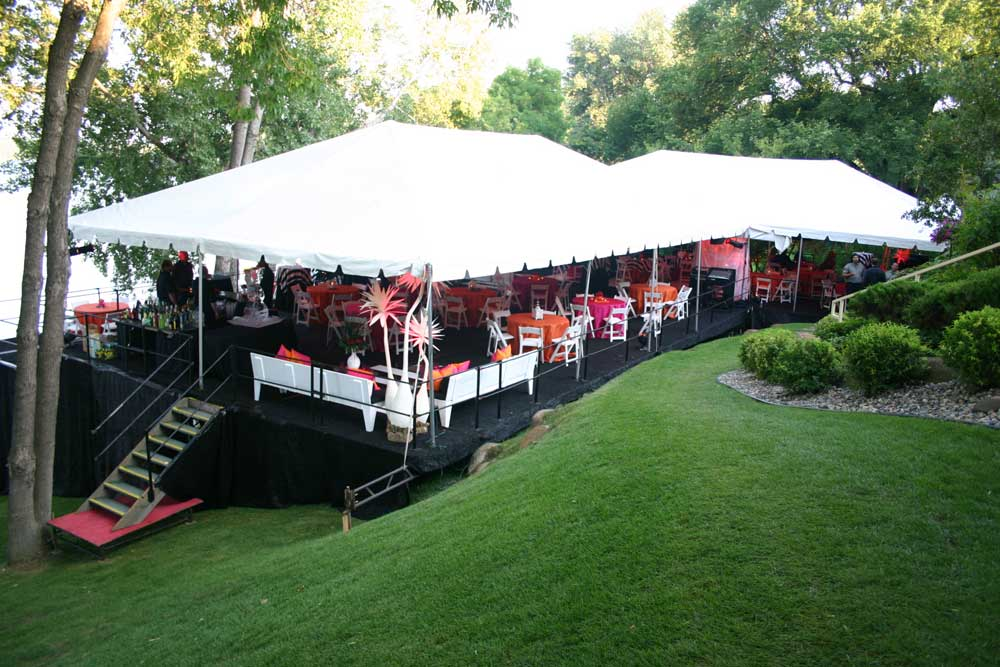 Services naples party rental naples fl area party for Outdoor party tent decorating ideas